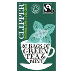 Clipper Fairtrade Green with Peppermint Tea Bags