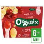 Organix Apple & Banana / Apple & Cherry Dual Compote