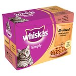 Whiskas Simply Pouch Braised Meat Gravy