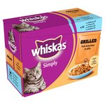Whiskas Simply Pouch Grilled Fish Jelly