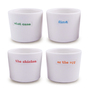 Keith Brymer Jones Word Range Egg Cups, White