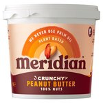 Meridian Natural Peanut Butter Crunchy No Salt