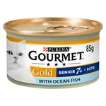 Gourmet Gold 7+ Cat Food Pate with Ocean Fish