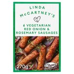 Linda McCartney 6 Vegetarian Sausages with Red Onion & Rosemary Frozen