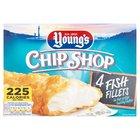 Young's Crispy Bubbly Battered Chip Shop 4 Fish Fillets Frozen