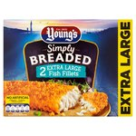 Young's 2 Extra Large Breaded Fish Fillets Frozen