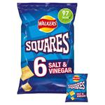 Walkers Squares Salt & Vinegar Snacks 22g x