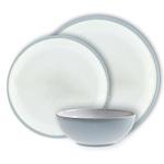 Denby Everyday Stoneware 12pc Dinnerset, Cool Blue