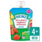 Heinz Smooth Strawberry, Raspberry & Banana 4-36 Mths