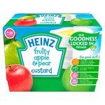 Heinz Fruity Custard Pear & Apple 4-36 Mths