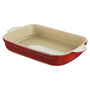 Denby Cook and Dine Ceramic Oblong Roasting Dish 32.5cm, Cherry